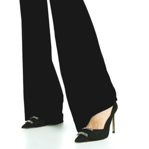 NWT Zara Black Heeled Pumps With Rhinestones
